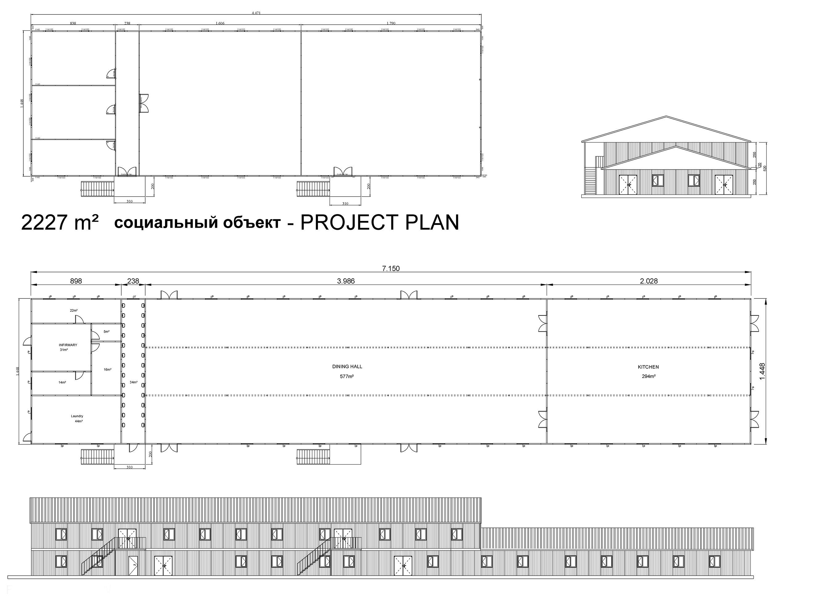 2227m² Prefabricated Social Facility